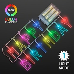 HAPPY BIRTHDAY LED Decorative Strings Lights Battery Powered Necklace