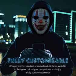 Shining Mask Halloween Mask Customizeable LED Face Mask