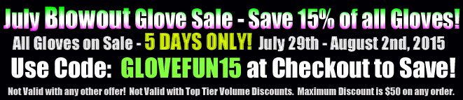 July LED Flashing Glove Super Blowout Sale at Blinkeez.com