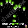 "<font color=""#00FF00"">SALE!</font> Black Flashing LED Gloves - GREEN LEDS (One Pair)"